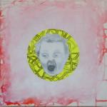 """""""Das Kind schreit"""" - Collage/MT  30 x 30"""
